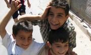 Syrian Boys Play in the Street