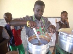 Simchah cooking in school