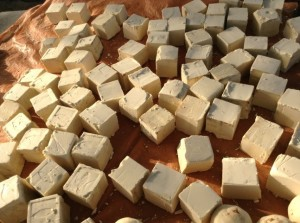 Soap to be sold by the women of Saneba